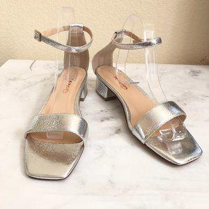 Size 8.5 Silver Strap Casual Sandal